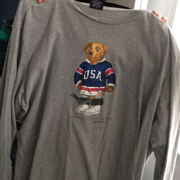0f8f7422cd26fd Polo by Ralph Lauren Shirts | Vintage Polo Sport Bear Usa Hockey ...